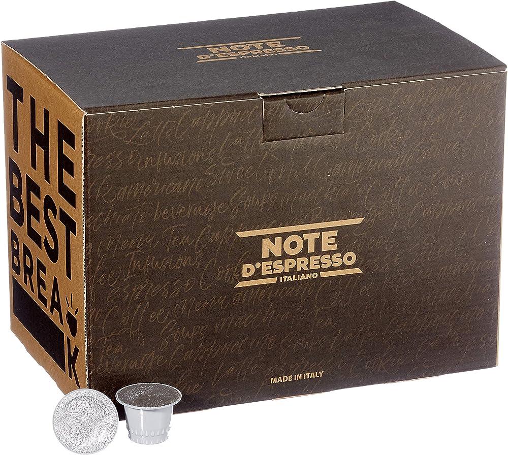Note d`espresso ,caffe`  d ` orzo bevanda in capsule,100 capsule,compatibili nespresso