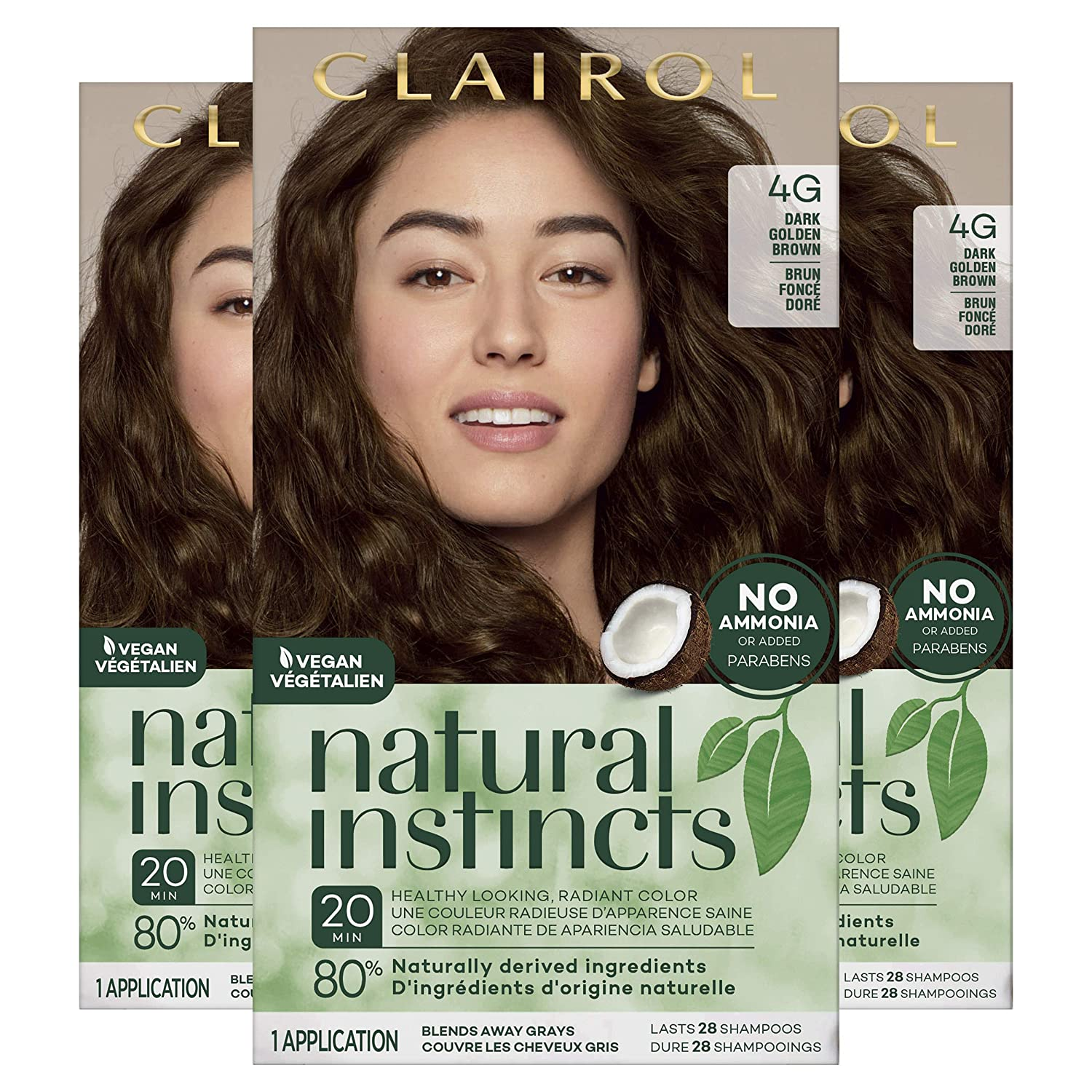Clairol Recommended Natural Instincts Louisville-Jefferson County Mall Semi-Permanent Hair Golde Dye Dark 4G