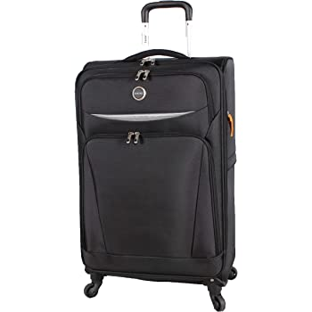 Lucas Luggage Lightweight Large 31 inch Soft Case Expandable Suitcase With Spinner Wheels (31 inch, Road Black)