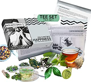 Tea Tasting Set l different teas from the world l special Gift Box | 10x25g Tea World Trip Gift Idea Present Set for tea d...