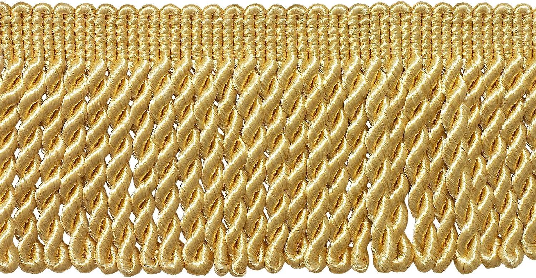 online shopping 3 Inch Fringe Woven Bullion So Gold Light BFS3-PY Trim Super popular specialty store