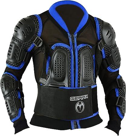 Kinder Motocross Rüstung Rücken Motorrad Schutz Jacke Blau S Auto