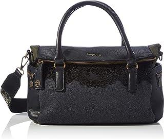 Desigual Accessories Fabric Hand Bag, Borsa a Mano. Donna, Nero, U