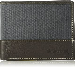 Timberland Men's Canvas & Leather Billfold Gift Set