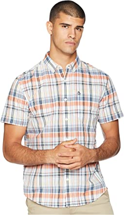 Short Sleeve P55 Mini Plaid w/ Stretch Shirt