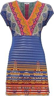IVKO V-Neck Tunic/Dress, China Blue