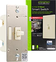Enbrighten Almond Z-Wave Plus Smart Light Switch with QuickFit and SimpleWire, 3-Way Ready, Works with Alexa, Google Assis...