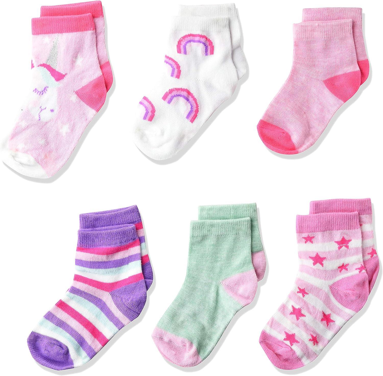 Cherokee baby-girls Cherokee Girls 6 Pack Shorty Socks