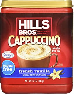 Hills Bros. Instant Cappuccino Mix, Sugar-Free French Vanilla Cappuccino Mix-Easy to Use, Enjoy Coffeehouse Flavor from Ho...
