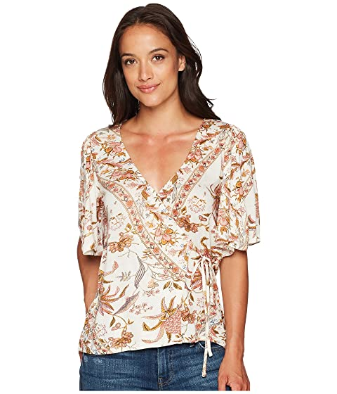 7aa95e5b0f2c20 Lucky Brand Floral Print Wrap Top at 6pm