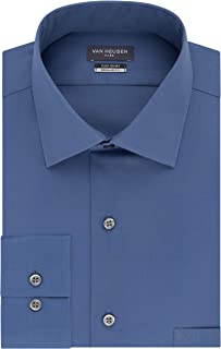Men's Dress Shirt Regular Fit Flex Collar Stretch Solid