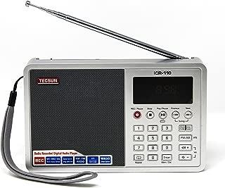 Tecsun ICR-110 4-in-1 Digital Portable AM/FM Radio + MP3 Player + Desktop/Laptop Computer USB Speaker + Digital Recorder, Color Silver (English Version)