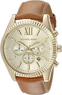 Michael Kors Women's Goldtone Lexington Watch With A Luggage Strap