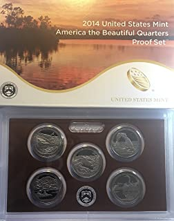 2014 S US Proof Set National Parks Quarters America the Beautiful US MINT Proof