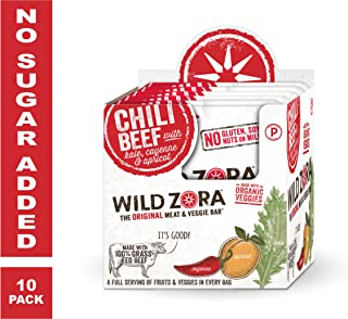 Wild Zora - Chili Beef - Meat and Veggie Bars (10-pack)