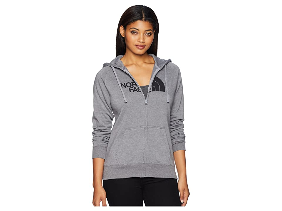 The North Face 1/2 Dome Full Zip Hoodie (TNF Medium Grey Heather/TNF Black) Women