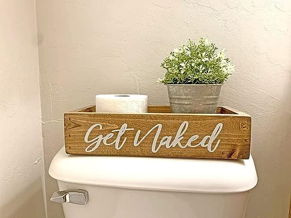 获取裸体浴室装饰盒卫生纸架浴室装饰盒农家风格有趣的浴室装饰