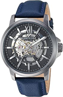 Kenneth Cole New York Men's Automatic Quartz Stainless Steel Case Leather Band Analog Display Casual Watch (KC50779002/01)