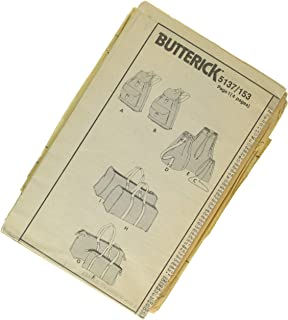 Butterick 5137 Totes, Purses, Duffle Bag and Backpack Pattern