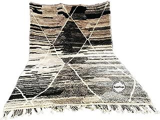 PREMUIM Handmade rug Moroccan Berber Beni Ourain boujaad Azilal rug 6.5 FT X 8.8 FT