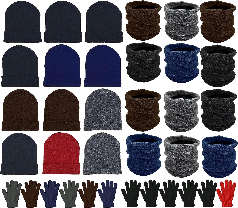36x Winter お買い得 Gloves Beanies Neck Bulk ☆最安値に挑戦 Unisex Donati Pack Warmers