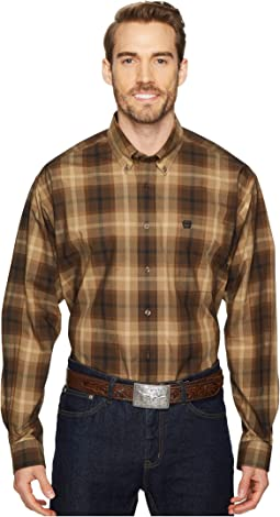 Cinch - Long Sleeve Plain Weave Plaid