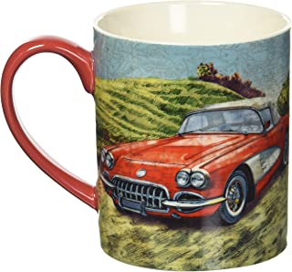 Lang Vintage Car Mug by Tim Coffey, 14 oz., Multicolored