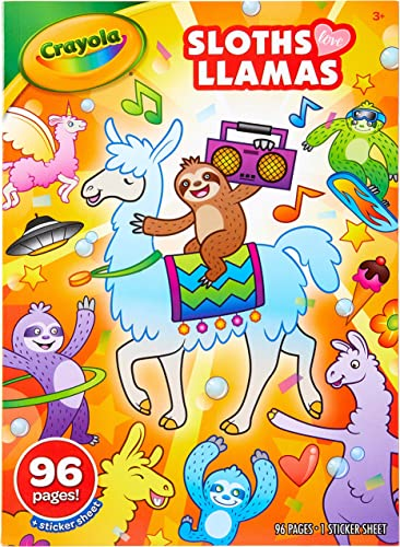 high quality Crayola Coloring outlet online sale Book-Sloths & high quality Llamas (04-0496) outlet online sale