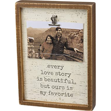 Primitives by Kathy Inset Photo Frame, 8  x 11 , Every Love Story is Beautiful