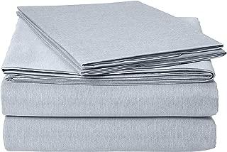 AmazonBasics Chambray Bed Sheet Set - Queen, Denim Wash