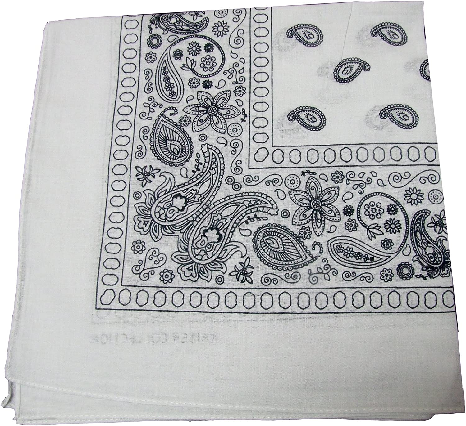 Bandanas by the Dozen 12 units White Max 59% OFF per pack Pa 100% cotton 67% OFF of fixed price