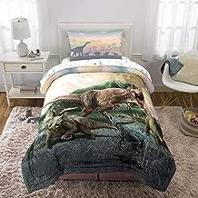 Franco Kids Bedding Super Soft Microfiber Comforter and Sheet Set, 4 Piece Twin Size, Jurassic World Girls