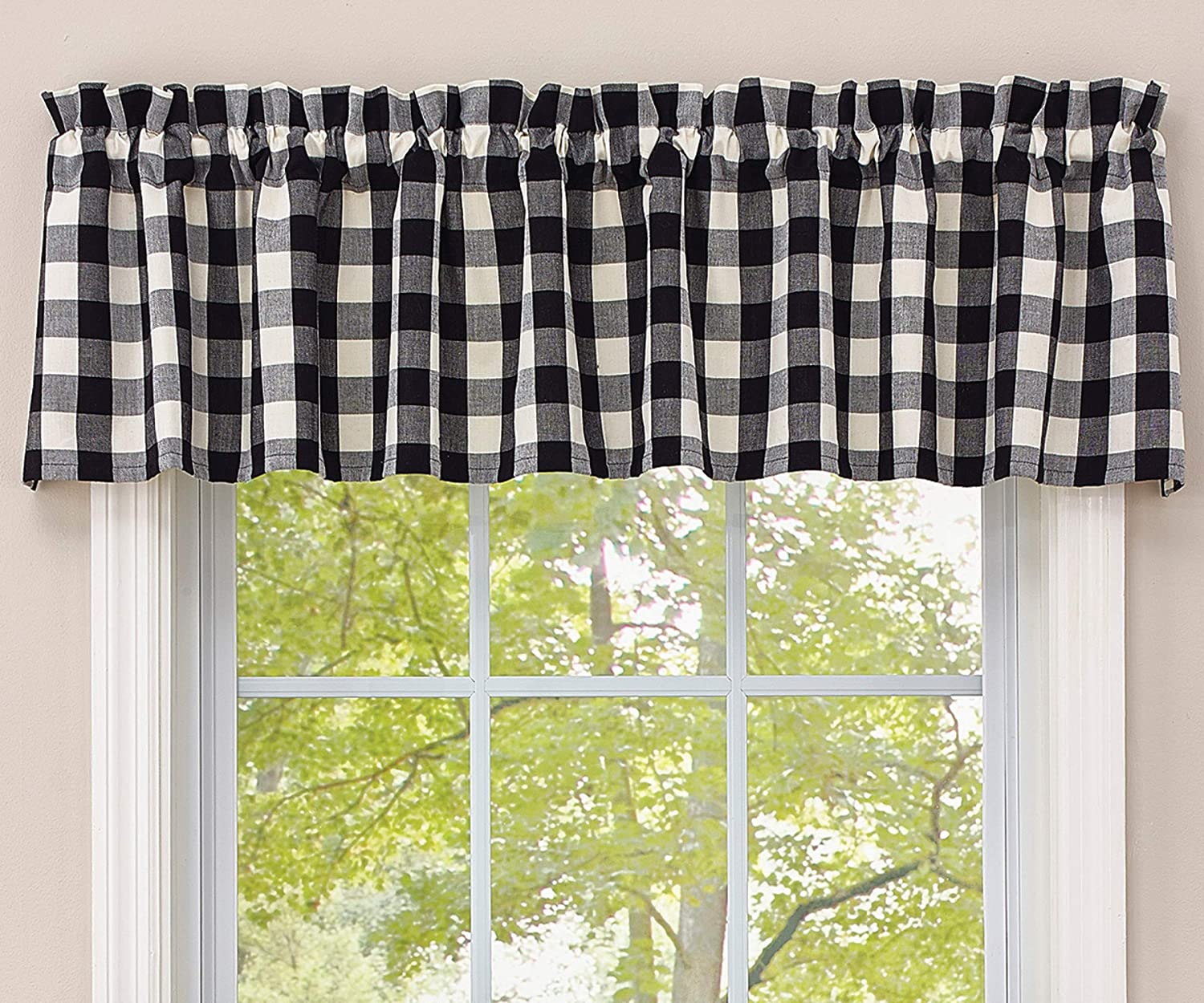 Park Designs Checkerboard Super-cheap Lined Black Valance Online limited product White -