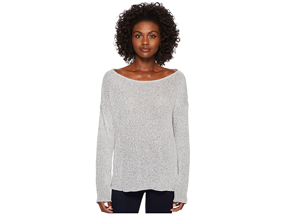 Three Dots Boucle Sweater Knit Drop Sleeve Top (Night Iris) Women