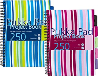 Pukka A4 Project Book, Pink or Blue