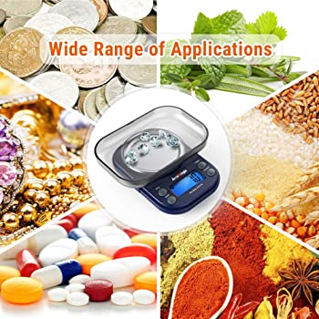 AccuWeight 255 Mini Digital Weight Scale for School Travel Jewelry Pocket Gram Scale 300g/0.01g with Tare and Calibra...