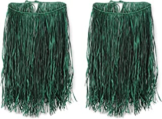 """Beistle S50433GAZ2 Extra Large Raffia Hula Skirt, 36"""" W x 28"""" L, Green"""
