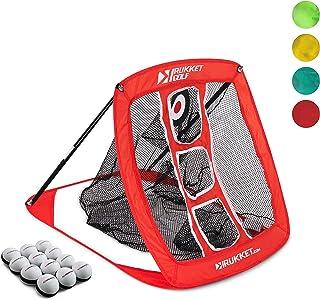 Rukket Pop Up Golf Chipping Net   Outdoor/Indoor Golfing Target Accessories and Backyard Practice Swing Game with 12 Foam Training Balls