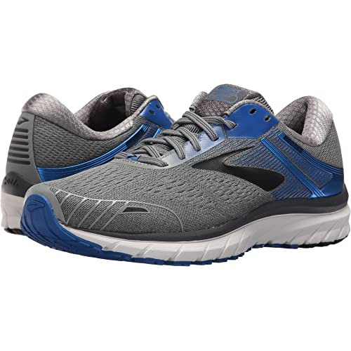 Brooks Mens Adrenaline GTS 18 Grey/Blue/Black 10.5 EE US