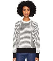 Sonia Rykiel - Cotton Silk Mouline Stripes Long Sleeve Sweater