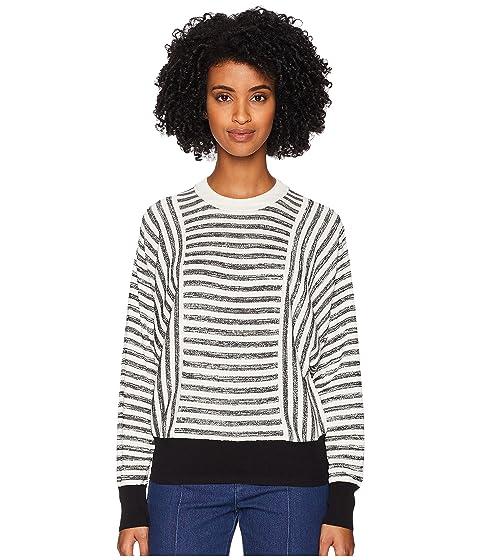 Sonia Rykiel Cotton Silk Mouline Stripes Long Sleeve Sweater