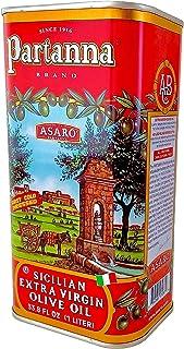 Partanna Extra Virgin Olive Oil - 33.8-Ounce Tin - Real Sicilian Extra Virgin Olive Oil (EVOO) - Italian Olive Oil - Made ...