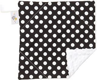 Original Baby Elephant Ears Boys & Girls Baby Blanket-Soft Minky, For Newborn Infants & Toddlers, Plush Blanket - (Black Dot, Mini 12