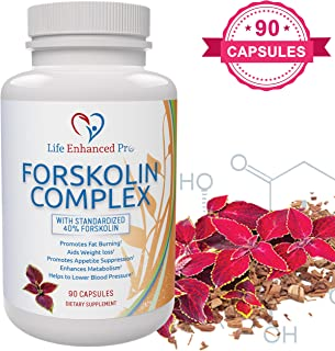 100% Pure Forskolin Extract 300MG – 40% Standardized for Weight Loss, Coleus Forskohlii Diet Supplement, Belly Fat Carb Burner Pills for Women + Men, Slim Trim Lose Belly Buster – 90 Vegan Capsules