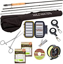 Wild Water Fly Fishing Deluxe Rod and Reel Combo 4 Piece Fly Rod 5/6 9' Complete Starter Package