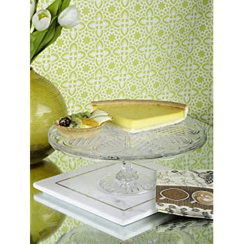 GOODHOMES Glass Cake and Dessert Pedestal Display Stand