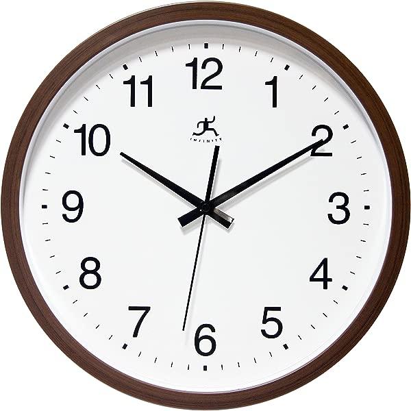 Infinity Instruments Walnut Finish Clock Walnut