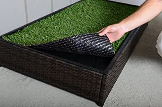 Porch Potty, Synthetic Replacement Grass for Standard or Premium Porch Potties, No Sprinkler Hole, Grass Size 4'x2'