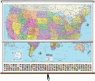 Best classroom wall maps roller Reviews