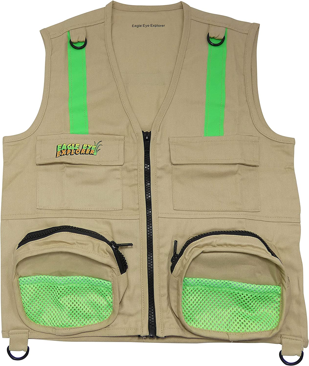 Exploration Hiking Investigation and Fun Youth Groups Outdoor Activities UK Eagle Eye Explorer Kids Cargo Vest with Reflective Safety Straps Perfect for Fishing